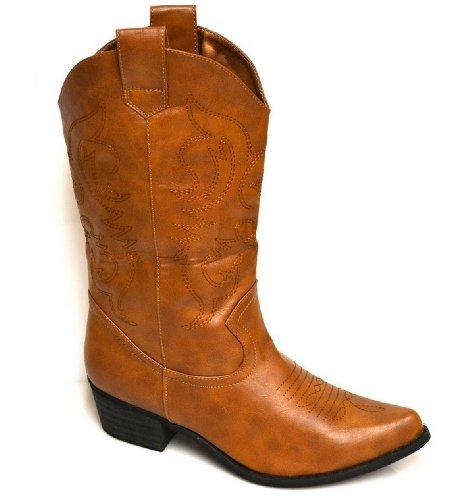 Bottes De Cowboy Féminines Candys - Marron Clair