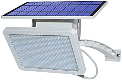MXJEEIO Luces Solares Exterior 48 LED, Luz Solar Jardín 5000mAh ...