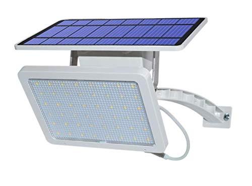 MXJEEIO Luces Solares Exterior 48 LED, Luz Solar Jardín 5000mAh, Proyector solar 48LED Luz de calle solar Luz de jardín 18WSolar, Focos Solares ...