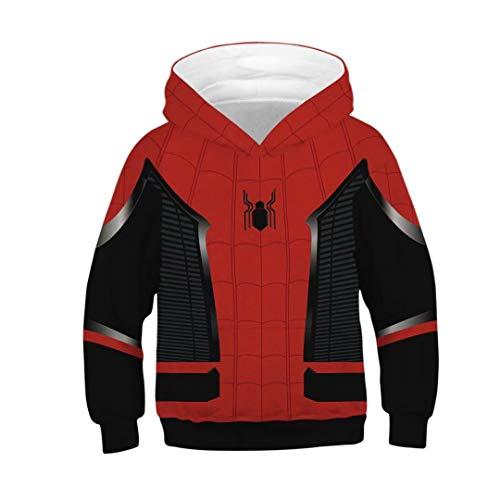 Tsyllyp Kids Boys Spiderman Hoodie Costume 3D Sweatshirt Halloween -