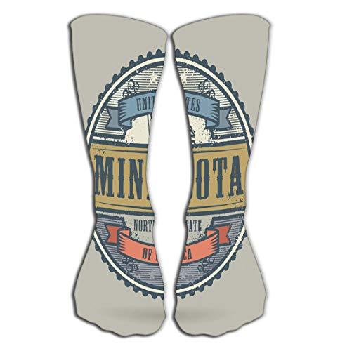 (YILINGER Compression Socks Women Knee high or Men - Best Stockings for Running, Medical,19.7