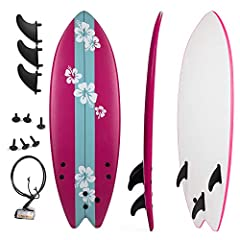 EVERYONE NEEDS A FISH IN THEIR QUIVER Grande Juguete 5 1/3' Fish Surfboard, which ideal for beginners for adults and children. It Is features durable top foam and slick hdpe high speed bottom. With this board, beginners can enjoy wonderful su...