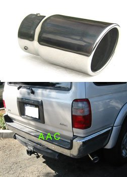 Stainless steel exhaust tip w/ mirror chrome finish - Toyota 4Runner 96-02