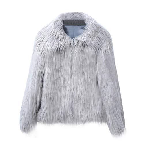 Taille large en hiver X Gris fourrure Sweatshirts synthétique avec Fashion capuche Manteau Gris couleur Everyday Casual xww6f7qC