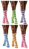 Womens Thick Comfortable Soft Fuzzy Cozy Calf High Winter Plush Socks 6 Pairs Size 9-11