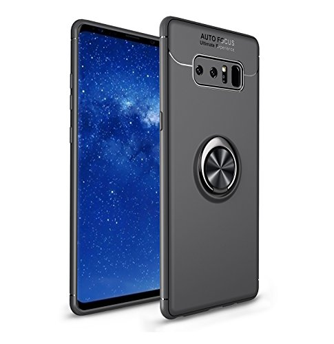 Cover Samsung Magnet - Galaxy Note 8 Case,HYAIZLZ Soft TPU Hidden Kickstand Note 8 Back Case Cover with Car Magnet for Samsung Galaxy Note 8,Color Black/Black
