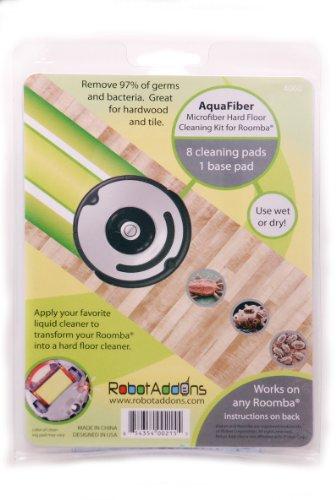 (Robot Add-Ons Aqua-Fiber Microfiber Hard Floor Cleaning Kit for Roomba)