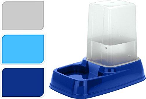 Futternapf mit 3L Reservoir - Futterspender Wasserspender Wassernapf für Hunde und Katzen Hellgrau