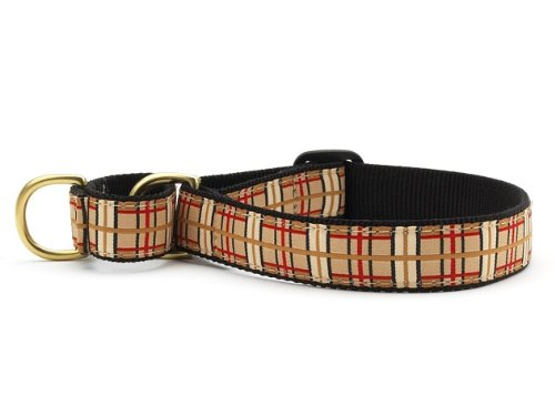 Plaid Martingale Dog Collar - X-Large (15-25 Inches) - 1 In Width