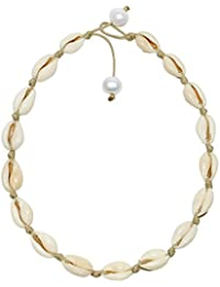 Natural Shell Beads Handmade Hawaii Wakiki Beach Choker Adjustable for Girls Ladies