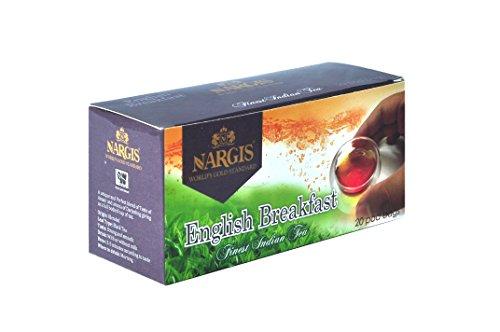 Nargis English Breakfast Pod Tea Bag Range 20 Teabags 2 Grams Each Packed In A Carton - English Evening Tea