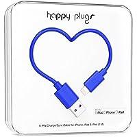 Happy Plugs Data Cable for iPhone 5/5s/5c/6/6 Plus, iPad mini/2/3 - Retail Packaging - Cobalt Blue