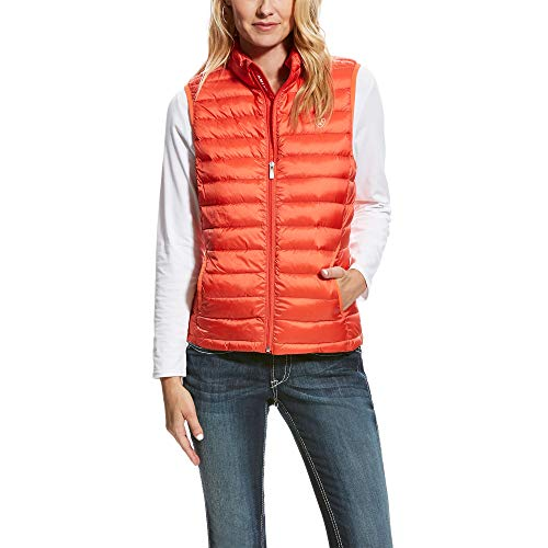 (Ariat Women's Ideal Down Vest, Calypso Coral, MED)