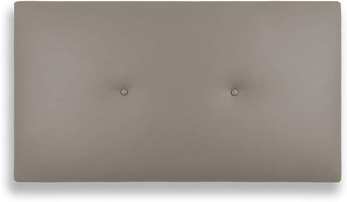 Silcar Home - Cabecero de Cama Tapizado en Polipiel con Hilera de Botones, Modelo Silvi (Vision, 90 cm) | Cabecero Acolchado | Cabezal Tapizado | ...