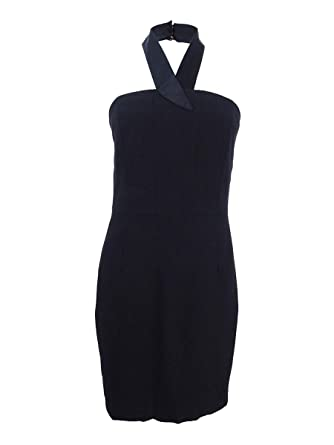 abcebb3c381 CeCe Womens Riley- Halter Dress with Satin Trim at Amazon Women s Clothing  store