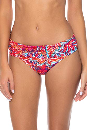 Sunsets Women's Unforgettable Shirred Band Bikini Bottom Swimsuit, Samba, Medium
