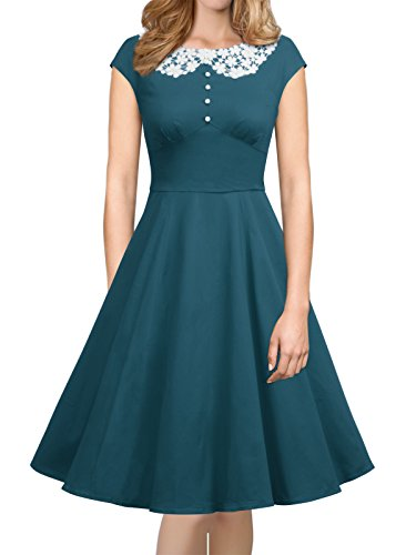 iLover Womens Classy Vintage Audrey Hepburn Style 1940's Rockabilly Evening (Classy Evening Wear)