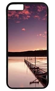 Beautiful Wharf DIY Hard Shell Black Designed For iphone 6 Plus Case