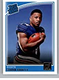 #5: 2018 Donruss Football #306 Saquon Barkley RC Rookie Card New York Giants Rated Rookie Official NFL Trading Card
