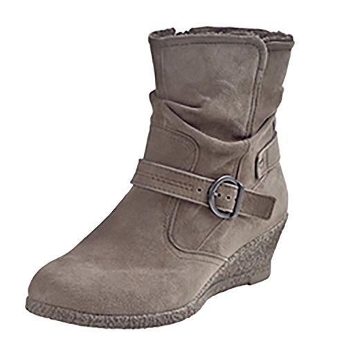 Manitu Women's 960811 Boots Beige - Beige (Taupe 8) HN7lpcbuPi
