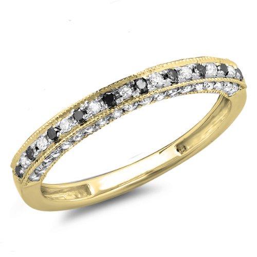 Diamond 14ky Mens Ring - 6