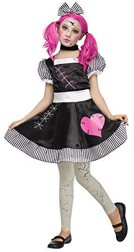 Fun World Big Girls' Broken Doll Girls Costume 8-10