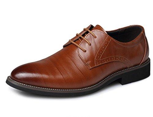 de cuir 45 yellow à bout Business en Chaussures de XDGG pointu pointues Chaussures taille mariage hommes grande pour Chaussures qU46WwE