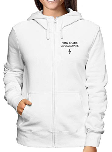Da Weiss Hoodie Pony Gratis Damen Zip Cavalcare Tdm00220 Sweatshirt qSn0f11