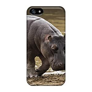 Fashion Tpu Case For Iphone 5/5s- Hippopotamus Defender Case Cover