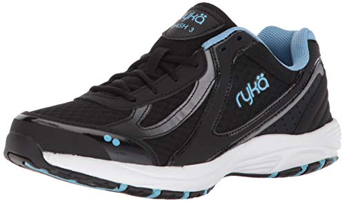 Ryka Black Shoes - Ryka Women's Dash 3 Walking Shoe, Black/Meteorite/nc Blue, 10 M US