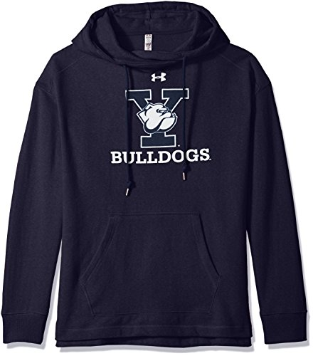 Under Armour NCAA Women's Pull-Over Fleece Hood, Navy, Small