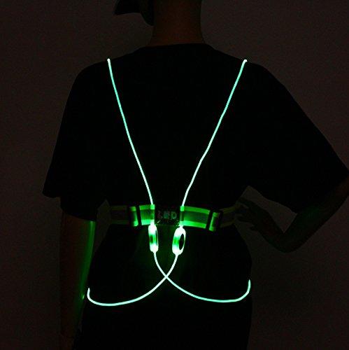 Vi-Tae® Illuminated Reflective Running Vest with LED Fiber Optics and 3 Flashing Modes Provide 360-Degree Visibility Up To One Mile - 360 Degree Reflective Vest