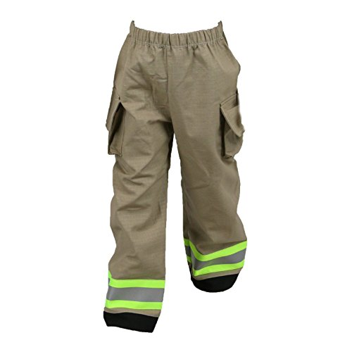 Firefighter Toddler Child Turnout Pants Only (One Pair) (4T, Tan/Yellow)