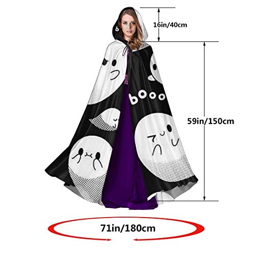 Adult Halloween Costumes Tumblr (Hooded Cloak Long Cape for Halloween Halloween Tumblr Static Filename Cosplay Costumes 59inch Unisex Adult)