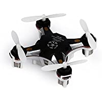 RONGT RC Drone 2.4G 4CH 6-Axis Gyro RTF Headless Pocket Mode Quadcopter Toy Aircraft FQ777-124 Drones Helicopters Childrens Christmas Gifts White