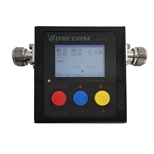 LATNEX CASE and SURECOM VHF UHF SWR Meter SW-102(N-Connector) VU 125-525Mhz  Power RF HF SWR Meter HAM Radio - Frequency Counter