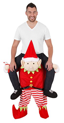Christmas Piggyback Ride On Tipsy Elf Costume -