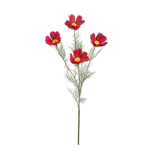 30.5″ Cosmos Silk Flower Stem -Beauty/Red (Pack of 12)