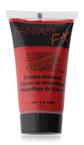 Red Face Paint Costume - Mehron Makeup Fantasy F/X Water Based Face & Body Paint, RED– 1oz Carded