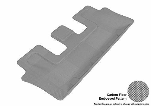 M-212) Gray Kagu Carbon Fiber Embossed Pattern Floor Mat Third Row for KIA SORENTO 7-SEATS 14-15 ()