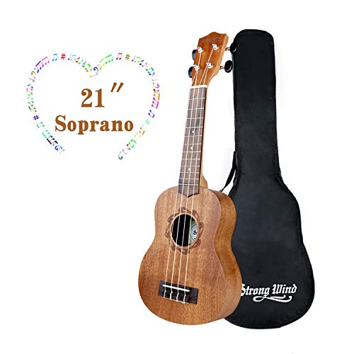 Ukulele Mahogany Ukuleles for Beginner Ukulele Pack Concert Ukulele Starter Kid Guitar 21Inch Uke for Kids Student and Adult with Gig Bag