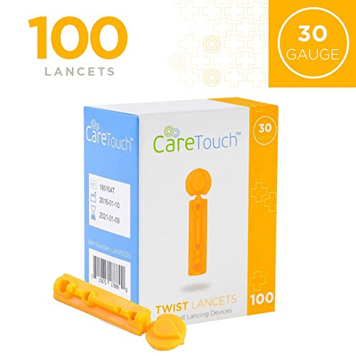 Care Touch CTLAN10030 Twist Top Lancets 30 Gauge, 100 Lancets, Shape, (Pack of -