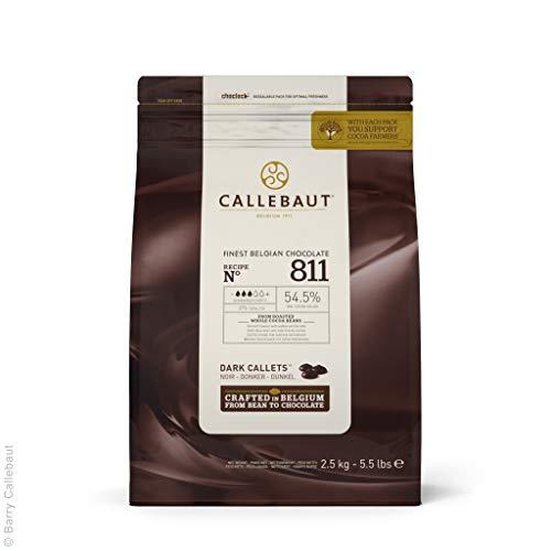Callebaut Recipe No. 811 Finest Belgian Dark Chocolate With 54.5% Cacao, 5.51 ()