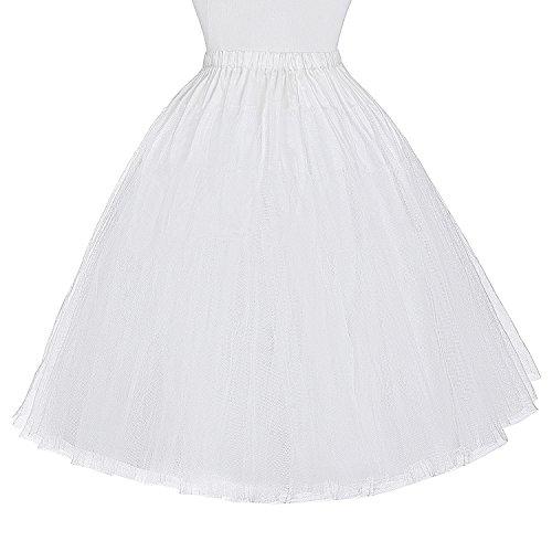Miriñaque Falda Vestido Blanco para Cancán Mujer Tutú Belle Enaguas Retro Vintage Tul Poque® de gq0xA04