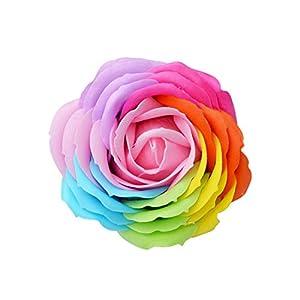 9Pcs/Box Soft Simulation Petals Soap Flower Artificial Rose Home Decoration Rose Soap Flower,2 37