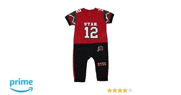 5ab04ed34 Amazon.com: Fast Asleep Utah Utes Baby Boy Football Uniform Onesie Pajama:  Clothing