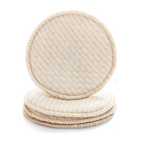 "Organic Cotton Nursing Pads 8-Pack by Alterion | Washable & Reusable Breast Pads for Nursing Mothers | 8x Nursing Pads Ultra Soft 100% Organic Cotton Fabric, Comfortable & | 4.3"" Diameter"