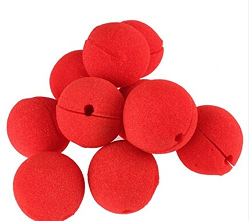 heandi 12pcs Foam Clown Nose Circus Party Halloween