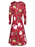 Gobling Womens Xmas Santa Snowman Printing Long