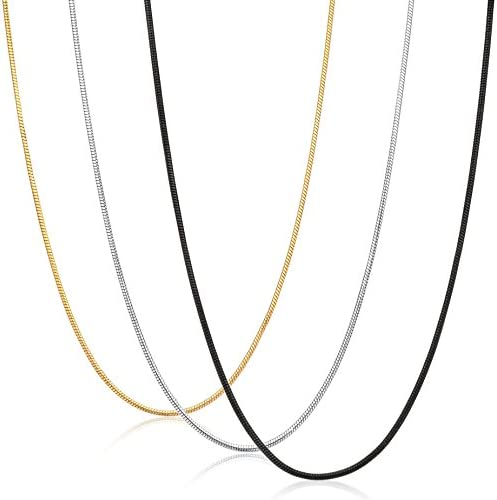 """18/"""" 20/"""" 24/"""" Stainless steel Box Chain Necklace Finished Minimal Jewelry 10pcs"""